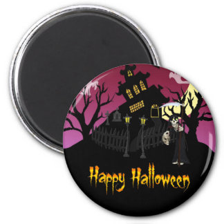 Scary Halloween 2 Inch Round Magnet