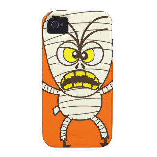 Scary Halloween Mummy Emoticon iPhone 4/4S Covers