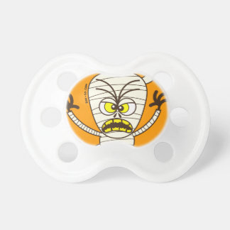 Scary Halloween Mummy Emoticon Baby Pacifier
