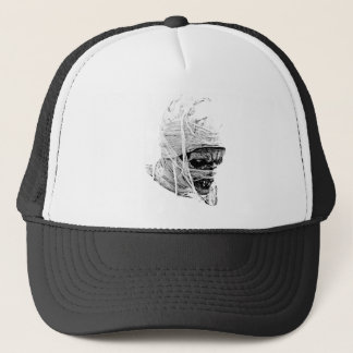 Scary Halloween Mummy. Horror and Gothic Engraving Trucker Hat