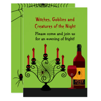 Scary Halloween Party Card