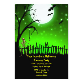 "Scary Halloween Party 5"" X 7"" Invitation Card"