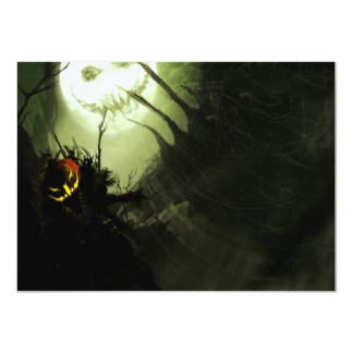 Scary Halloween Party Invitations Witch