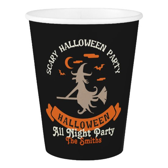 Scary Halloween Party. Paper Cup