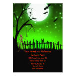 Scary Halloween Party Personalized Announcement