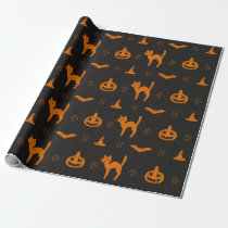 Scary Halloween Pattern Wrapping Paper