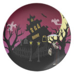 Scary Halloween Plate