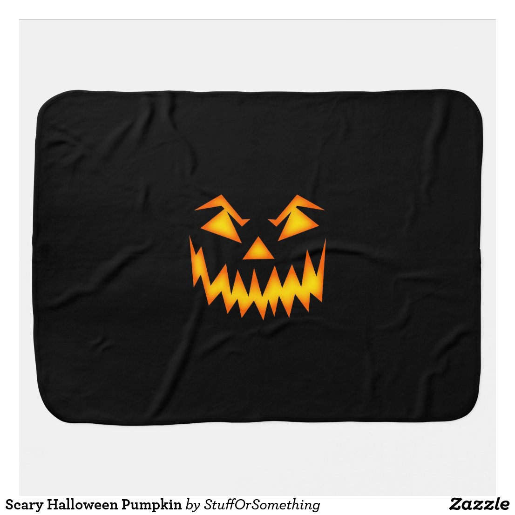Scary Halloween Pumpkin Baby Blankets