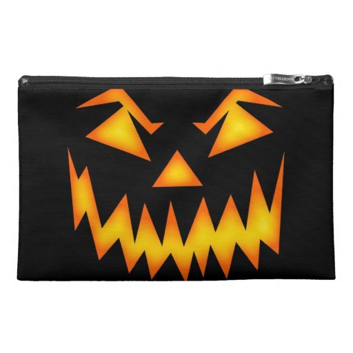 Scary Halloween Pumpkin Travel Accessory Bags