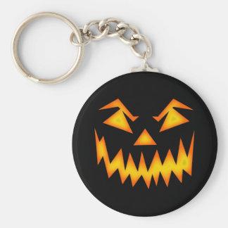 Scary Halloween Pumpkin Basic Round Button Keychain