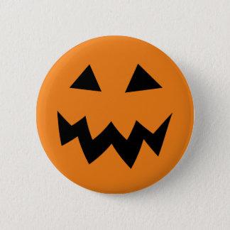 Scary Halloween pumpkin face carving buttons