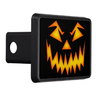 Scary Halloween Pumpkin Hitch Cover