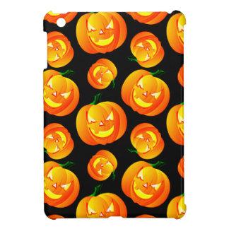 Scary Halloween Pumpkin, Jack-O-Lantern, Black iPad Mini Cover