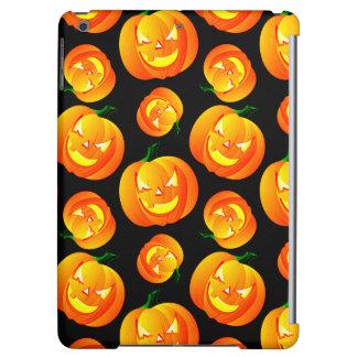 Scary Halloween Pumpkin, Jack-O-Lantern, Black iPad Air Cover