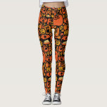 "Scary Halloween Pumpkin Jack O&#39; Lantern Leggings<br><div class=""desc"">Scary Halloween Pumpkin Jack O&#39; Lantern Leggings would be perfect to wear in Halloween and combine with your costume. Get yours today.</div>"