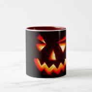 scary halloween pumpkin mug mug