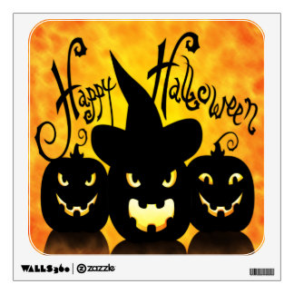 Scary Halloween Pumpkins Wall Decal