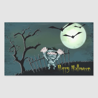 Scary Halloween Rectangular Sticker
