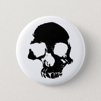 Scary Halloween skull cool gothic Pinback Button