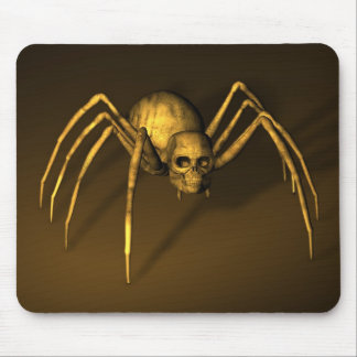 Scary Halloween Skull Spider Mouse Pad