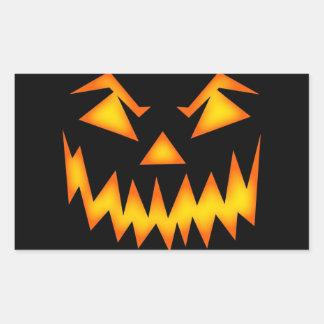Scary Halloween Smile Rectangular Sticker