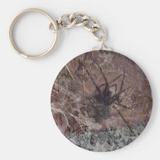 Scary Halloween Spider Basic Round Button Keychain