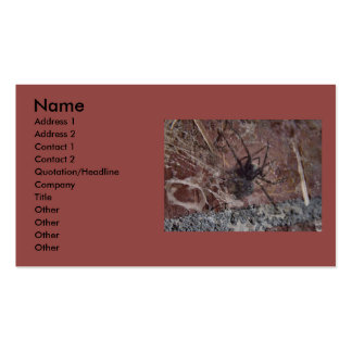 Scary Halloween Spider Business Card