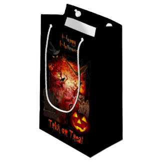 Scary Halloween Trick or Treat Small Gift Bag