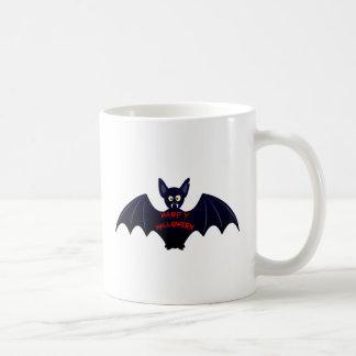 Scary halloween vampire bat coffee mug