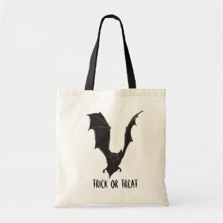 Scary Halloween Vampire Bat Trick or Treat Budget Tote Bag