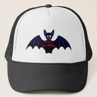 Scary halloween vampire bat trucker hat
