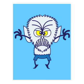 Scary Halloween Werewolf Emoticon Postcard