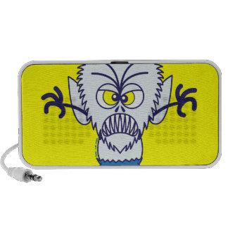 Scary Halloween Werewolf Emoticon Laptop Speakers