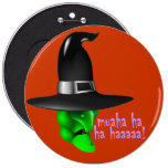 Scary Halloween Witch Buttons