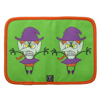 Scary Halloween Witch Emoticon Folio Planners