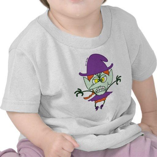 Scary Halloween Witch Emoticon Tshirt