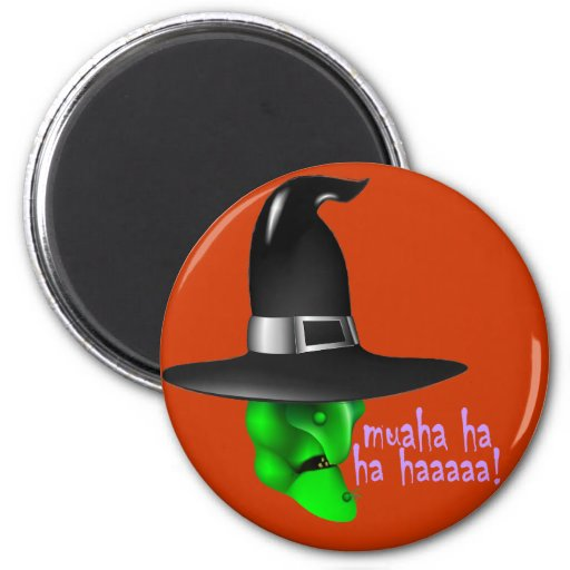 Scary Halloween Witch Fridge Magnet