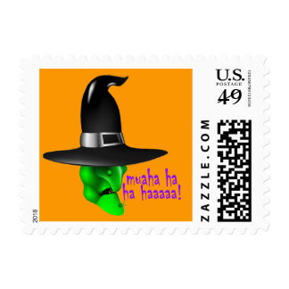 Scary Halloween Witch Postage