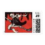 Scary Halloween Witch postage stamp