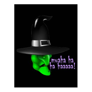 Halloween Themed Scary Halloween Witch Postcard