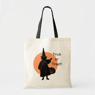 Scary Halloween Witch Trick or Treater on Bag