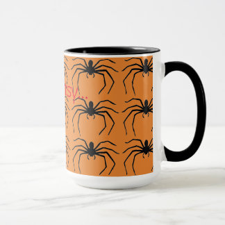 Scary Halloween Witches Black Spider Designed Mug