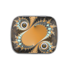 Scary Halloween With Eyeballs Candy Tin at Zazzle