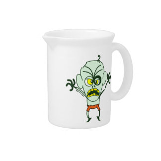 Scary Halloween Zombie Emoticon Pitcher
