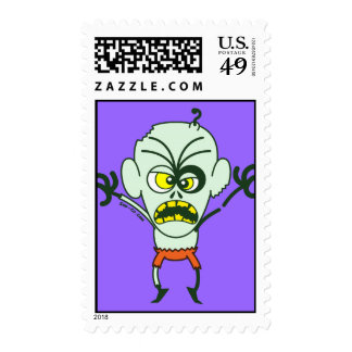 Scary Halloween Zombie Emoticon Stamps