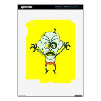 Scary Halloween Zombie Emoticon Skin For iPad 3