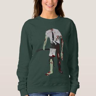 scary halloween zombie sweatshirt