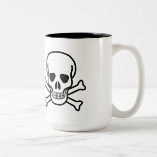 SCARY HALOWEEN SKULL AND CROSSBONES MUG