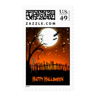 Scary Happy Halloween Stamps