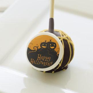 Scary Happy Halloween Pumpkins Cake Pops